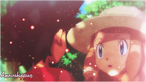 Pokemon XY Satoshi and Serena AmourShipping by KrigyKazuto