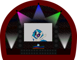 Vinyl Scratch on stage! by UP1TER
