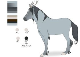 Mythical Horse adoptable- Closed by Snowfirewolf