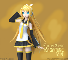 VOCALOID - Kagamine Rin (Future Style) by TRDaz