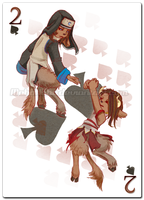 2 of Spades: Twins by MahoHaku