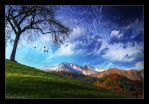 Tree on a Hill by ariandar