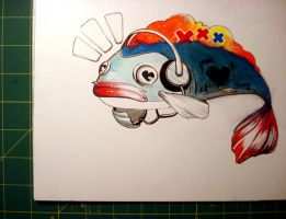Hip Hop Fish by nedashi