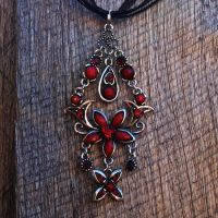 Tibetan Silver Chandelier Necklace by IndigoSphere