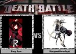 Death Battle: Ruby Rose Vs Margaret Moonlight by CZProductions