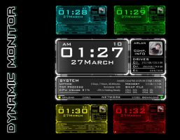 Dynamic Monitor Rainmeter by ZakycooL