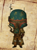 Steampunk Boba Fett by Mibu-no-ookami