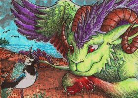 ACEO: Birdwatching by Augala