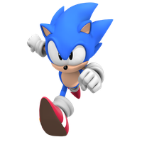 Classic Sonic The Hedgehog, Render WttP1/4 by Nibroc-Rock