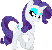 Mlp Fim New Rarity (happy) vector by luckreza8