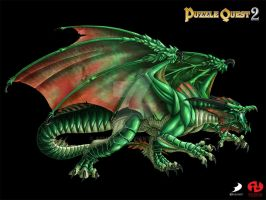 Puzzle Quest 2 - Green Dragon by Ashalind