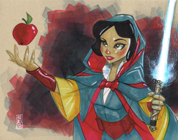 Jedi Snow White by Hodges-Art