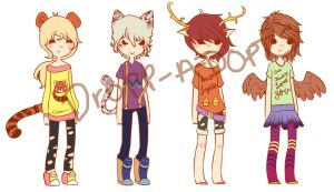Animal people point adopts (OPEN) by Dropp-Adopts