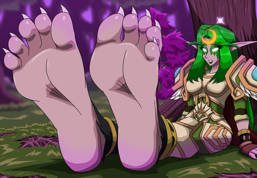 In The Night Elf Forest by MostlyFunStuff