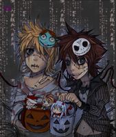 KH2: trick or treat by animegirl000