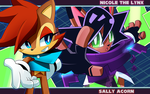 Sonic Skyline Fanart: Sally and Nicole by Tale3211