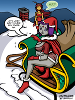 Year of the Demon Santa by lightfootcomics