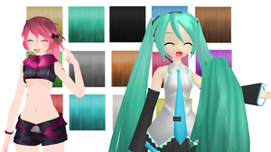 Detailed Anime hair texture + download by Nanana-P