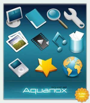 Aquanox mini Icon Set by cyberchaos05 Icon, Icons and more Icons