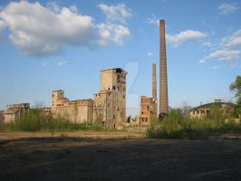 abandoned cement factory 1 by Banderoo