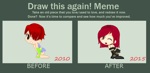 Draw this Again! Meme -  Persona~ by LittleAlyce