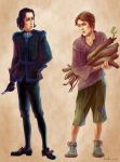Young Vetinari and Vimes by ZarKir