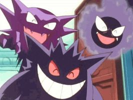 Gastly, Haunter and Gengar by Finalfo