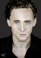 Tom Hiddleston by cyndicyanide