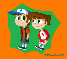 The Loud House Gravity Falls - Dipper x Lynn by TXToonGuy1037