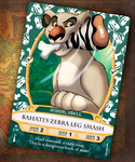 SOTMK Card - Bahati's Zebra Leg Smash! by marymouse