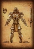 Black Age Online Armor front by rafater