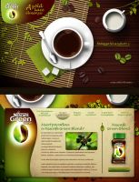 Nescafe Green Blend promo site by floydworx