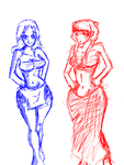 beach babes by 123chachy