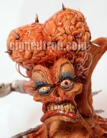 Motherbrain sculpture closeup by missile-me
