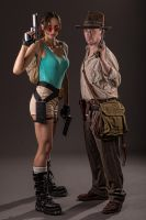 Lara Croft and Indiana Jones by ShonaAdventures