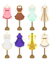 Ice Cream Themed Dress (CLOSED) by AssassinWitch