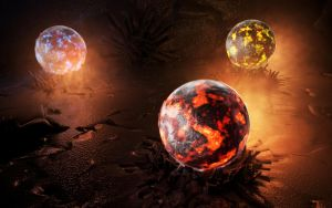 Magma orbs by MyBurningEyes