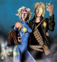 dazzler and longshot by jlonnett