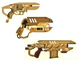 African Steampunk Heavy Pistol Mockups by LandgraveCustoms