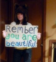 Remember you are beautiful. by itotallyheartdrawing