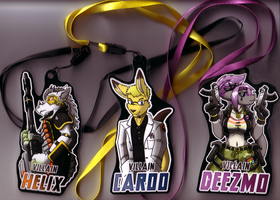MiDFur XII Badges Finalised by Caroos-Dungeon