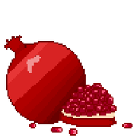 Pomegranate Pixel Art F2U by ManateeInTheMoon