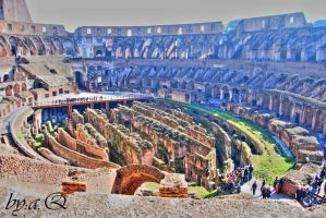 Colosseum Rome from the inside by amna-alq