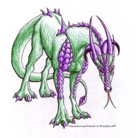 Ballpoint Dragon by brushfire