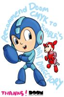 Baby Mega Man by DoomCMYK
