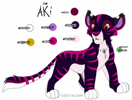 Cub Aki -2009 ref sheet- by KaiserTiger