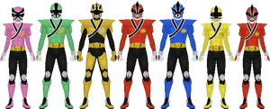 Power Rangers Samurai Mega Mode by Taiko554