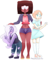 Crystal Gems by Marstarpower