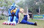 Yamato w/ MetalGarurumon - Cosplay by takeoh13