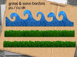 Grass + Wave Borders by slavetofashion69